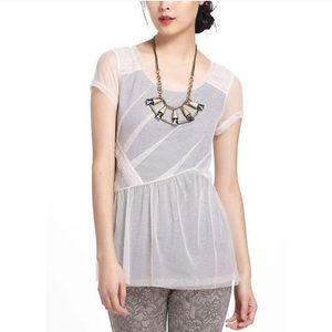 Anthropologie Meadow Rue Layered Dahlia Top